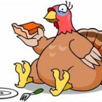 Turkey Eating Pie