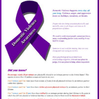 Domestic Violence Awareness 2020
